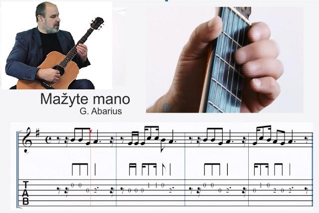 8 gitaros pamoka