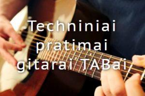 Pratimai gitarai TABai
