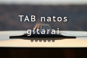 TAB - tabulatūra gitarai