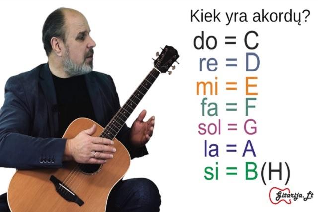 9 gitaros pamoka