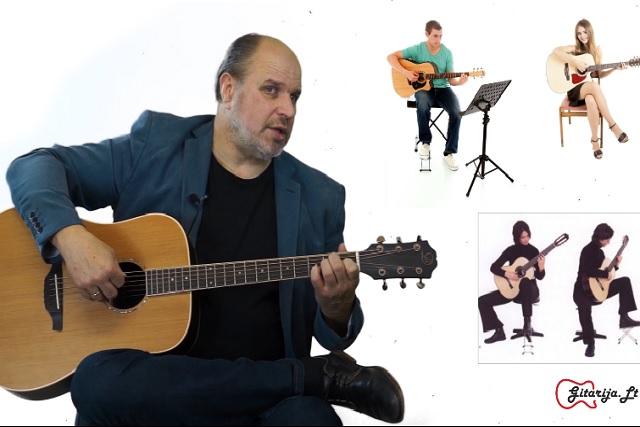 1 gitaros pamoka